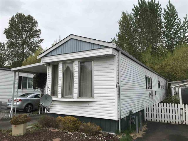 Manufactured Home for sale in Central Abbotsford, Abbotsford, Abbotsford, 63 3300 Horn Street, 262461071 | Realtylink.org
