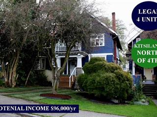 House for sale in Kitsilano, Vancouver, Vancouver West, 3624 W 3rd Avenue, 262462015   Realtylink.org