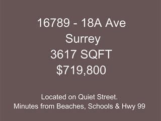 Lot for sale in Pacific Douglas, Surrey, South Surrey White Rock, 16789 18a Avenue, 262475641 | Realtylink.org