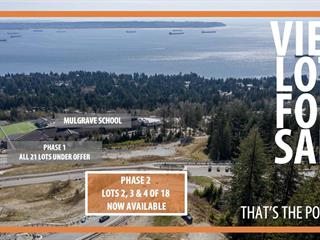 Lot for sale in Cypress Park Estates, West Vancouver, West Vancouver, 2720 Rodgers Creek Place, 262472367 | Realtylink.org