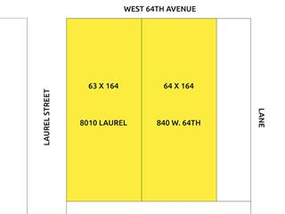 Lot for sale in Marpole, Vancouver, Vancouver West, 840 W 64th Avenue, 262462182   Realtylink.org