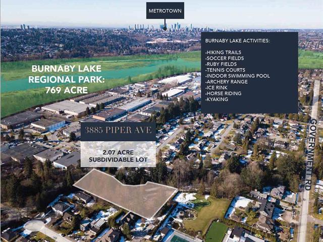 Lot for sale in Government Road, Burnaby, Burnaby North, 3885 Piper Avenue, 262476080 | Realtylink.org