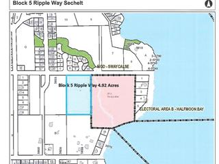 Lot for sale in Sechelt District, Sechelt, Sunshine Coast, Block 5 Ripple Way, 262498277 | Realtylink.org