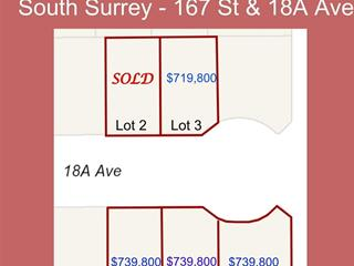 Lot for sale in Pacific Douglas, Surrey, South Surrey White Rock, 16780 18a Avenue, 262481675 | Realtylink.org