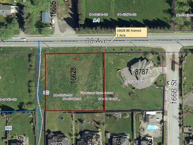 Lot for sale in Fleetwood Tynehead, Surrey, Surrey, 16628 88 Avenue, 262461893 | Realtylink.org
