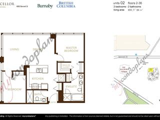 Apartment for sale in Metrotown, Burnaby, Burnaby South, 802 4880 Bennett Street, 262632340   Realtylink.org