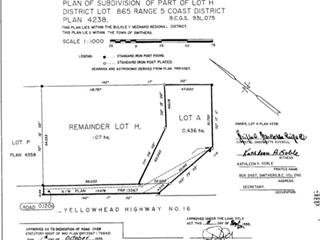 Lot for sale in Smithers - Town, Smithers, Smithers And Area, Lot A W 16 Highway, 262641457 | Realtylink.org