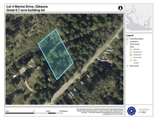 Lot for sale in Gibsons & Area, Granthams Landing, Sunshine Coast, Lot 4 Marine Drive, 262517001 | Realtylink.org