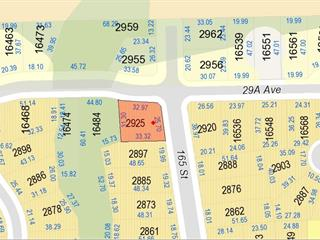 Lot for sale in Grandview Surrey, Surrey, South Surrey White Rock, 2925 165 Street, 262617573 | Realtylink.org