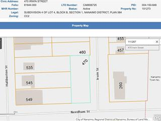 Lot for sale in Nanaimo, South Nanaimo, 470 Irwin St, 873620   Realtylink.org