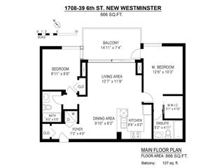 Apartment for sale in Downtown NW, New Westminster, New Westminster, 1708 39 Sixth Street, 262587532   Realtylink.org