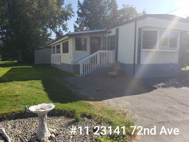 Manufactured Home for sale in Salmon River, Langley, Langley, 11 23141 72 Avenue, 262504605 | Realtylink.org