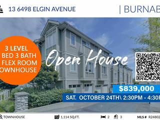 Townhouse for sale in Forest Glen BS, Burnaby, Burnaby South, 13 6498 Elgin Avenue, 262501914 | Realtylink.org
