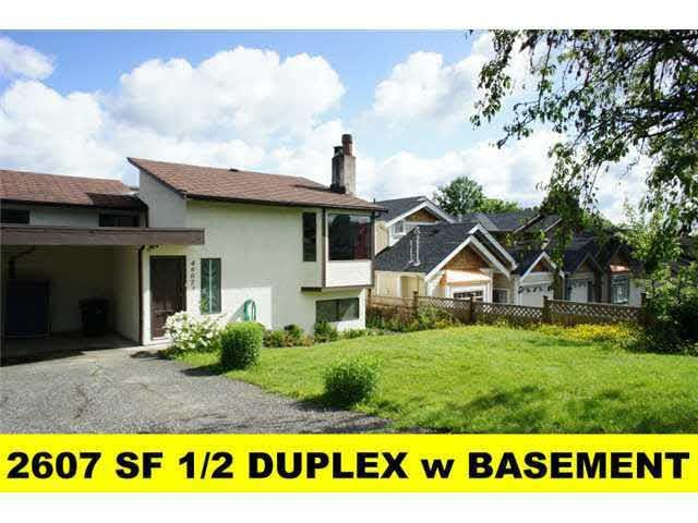 1/2 Duplex for sale in Forest Glen BS, Burnaby, Burnaby South, 4607 Grassmere Street, 262436952   Realtylink.org