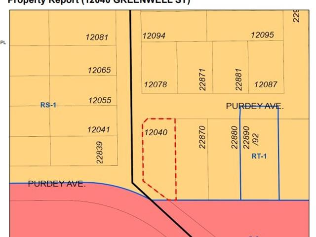 Lot for sale in East Central, Maple Ridge, Maple Ridge, 12040 Greenwell Street, 262429290   Realtylink.org