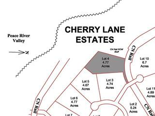 Lot for sale in Taylor, Fort St. John, Lot 4 Cherry Lane, 259586094   Realtylink.org
