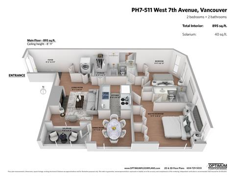 Apartment for sale in Fairview VW, Vancouver, Vancouver West, Ph7 511 W 7th Avenue, 262412720 | Realtylink.org