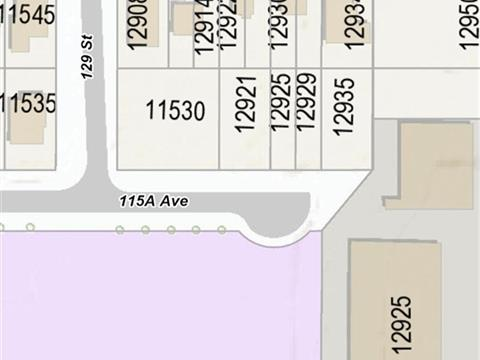 Lot for sale in Bridgeview, Surrey, North Surrey, 12925-12929 115a Avenue, 262412094 | Realtylink.org