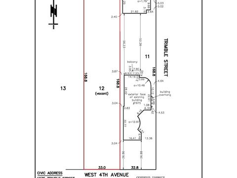 Lot for sale in Point Grey, Vancouver, Vancouver West, 4407 W 4th Avenue, 262413623 | Realtylink.org