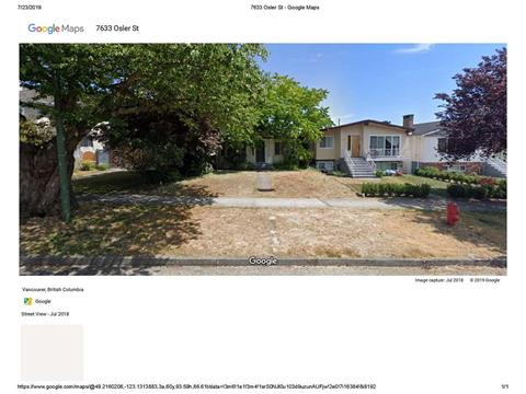 House for sale in South Granville, Vancouver, Vancouver West, 7642 Osler Street, 262413014 | Realtylink.org