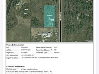Lot for sale in Buckhorn, Prince George, PG Rural South, 13315 Cariboo Highway, 262468370 | Realtylink.org