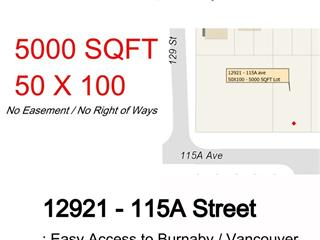 Lot for sale in Bridgeview, Surrey, North Surrey, 12921 115a Street, 262447002 | Realtylink.org