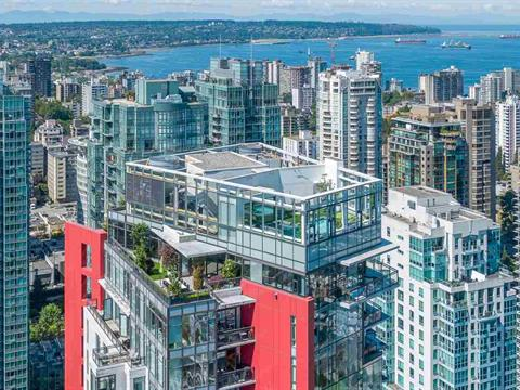 Apartment for sale in Coal Harbour, Vancouver, Vancouver West, Ph3801 1211 Melville Street, 262408509 | Realtylink.org