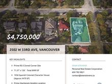 House for sale in MacKenzie Heights, Vancouver, Vancouver West, 2502 W 33rd Avenue, 262435618 | Realtylink.org