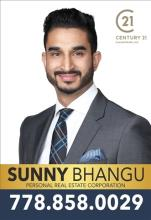 Sunny Bhangu, REALTOR<sup>®</sup>, Personal Real Estate Corporation