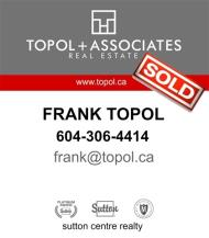 Frank Topol, REALTOR<sup>®</sup>, Personal Real Estate Corporation