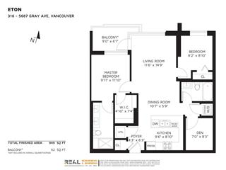 Apartment for sale in University VW, Vancouver, Vancouver West, 316 5687 Gray Avenue, 262450401 | Realtylink.org